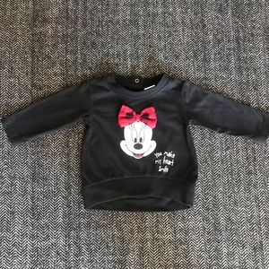 Disney baby sweat shirt size 0-3m